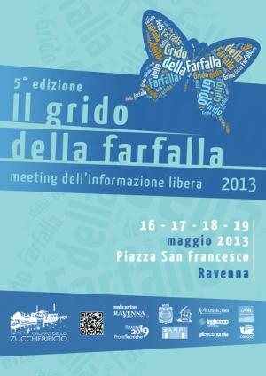 volantino Grido Della Farfalla 2013